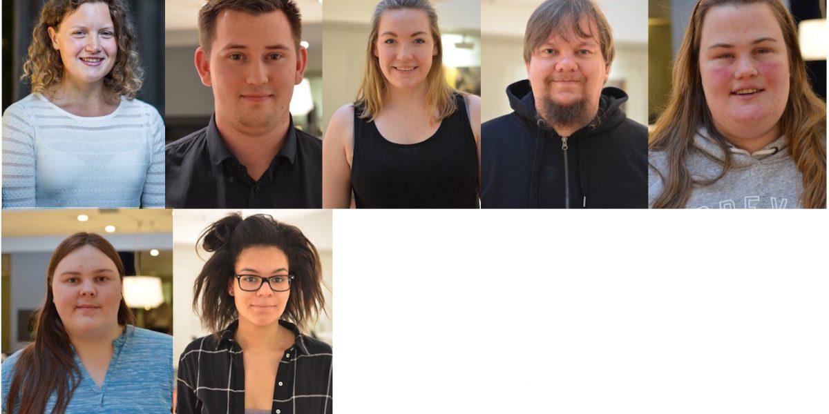 Profilbilder av styremedlemmene i Unge funksjonshemmede. Foto.