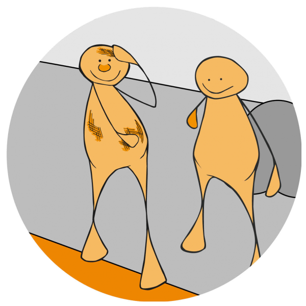 Prosjektlogo: Håndbok om likepersonsarbeid for ungdom