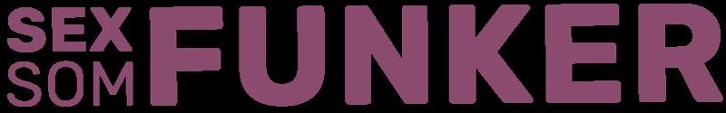 Logo Sex som funker. Grafikk.