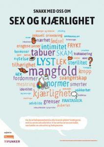 Plakaten Sex som funker.grafikk