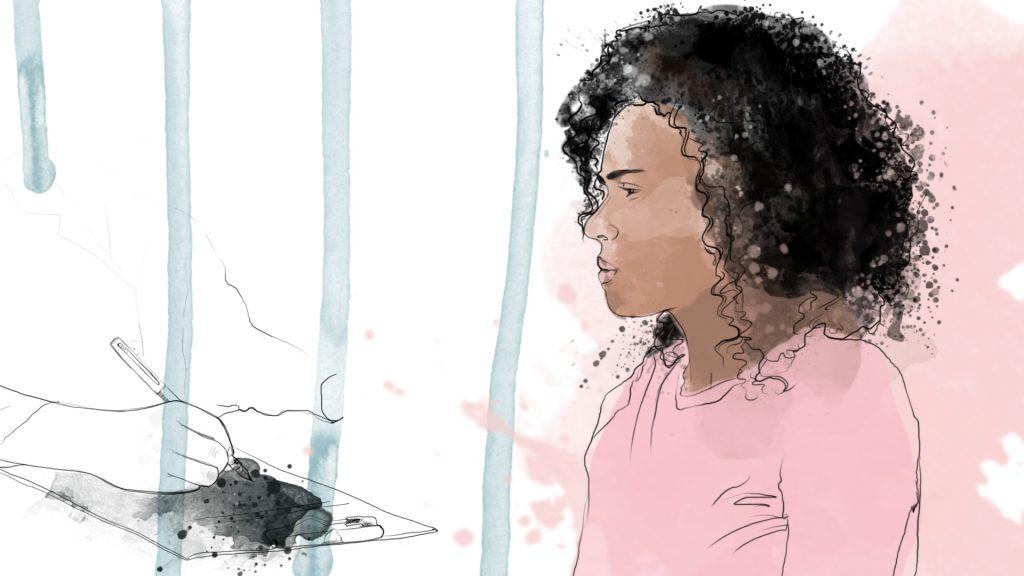 En ung kvinne ser bekymret ut