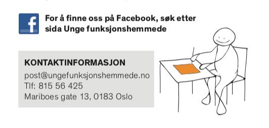 Kontaktinformasjon på en brosjyre fra 2011