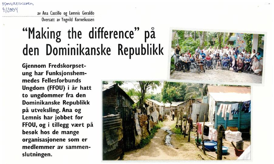 Artikkel om en utveksling med den Dominikanske Republikk